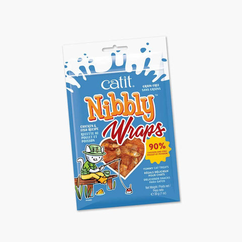 Catit Nibbly Wraps, Chicken & Fish 1.05 oz