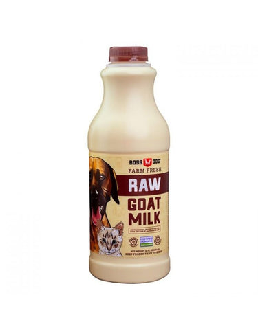 Boss Dog Raw Goat Milk, with Taurine!