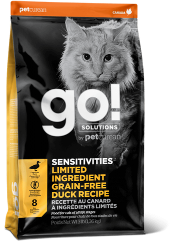 Petcurean GO! Sensitivities Duck 3 lb