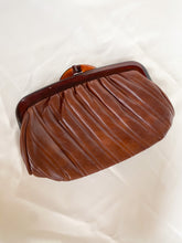 Load image into Gallery viewer, Brown Leather Tortoise Clutch