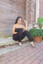 SASSY GIRL | TUBE JUMPSUIT (BLACK)