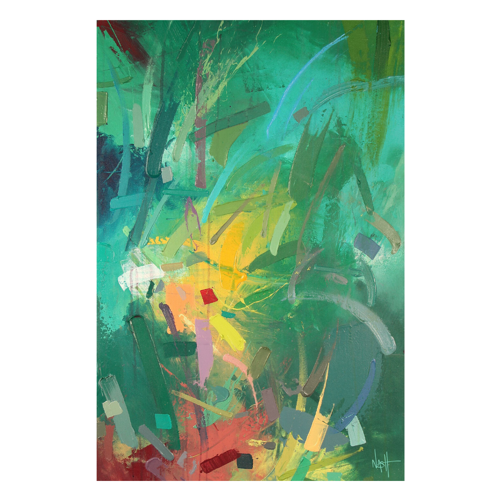 Canvas Art for Sale - Tropics by Dan Nash Gottfried