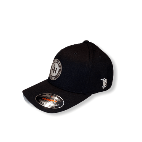 Infamous Curved FlexFit Hat - Infamous Hockey