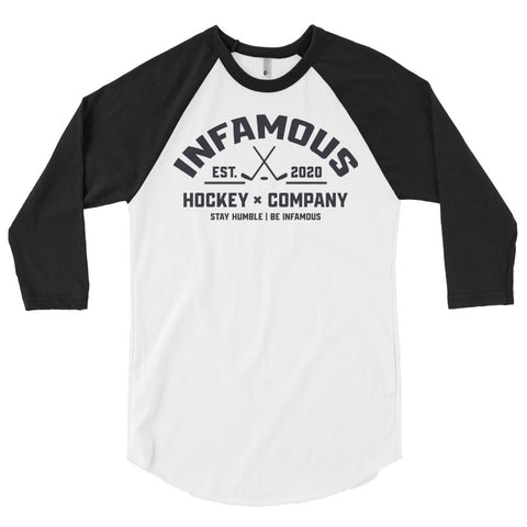 Vintage 3/4 Sleeve Infamous Crest - Infamous Hockey