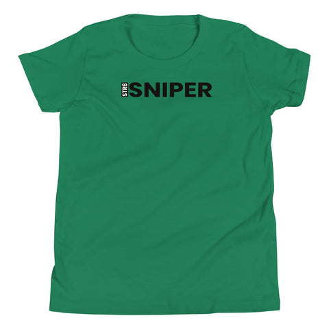 Youth STR8 Sniper Black Text T-Shirt - Infamous Hockey