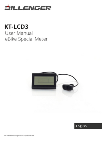 Dillenger KT3 LCD User Manual