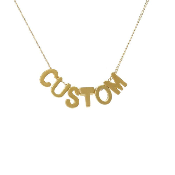 Personalized Custom Initial Necklace for Moms - 6 Letters