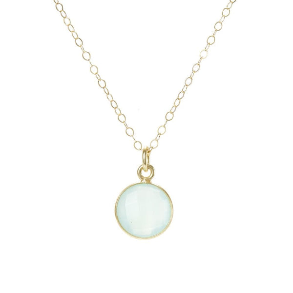 """Cool Mama"" - Mom Necklace - Chalcedony Stone"
