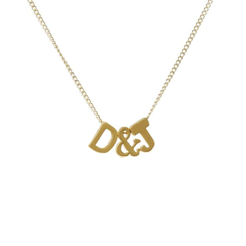 Personalized Initial Necklace for Moms- 2 Letters