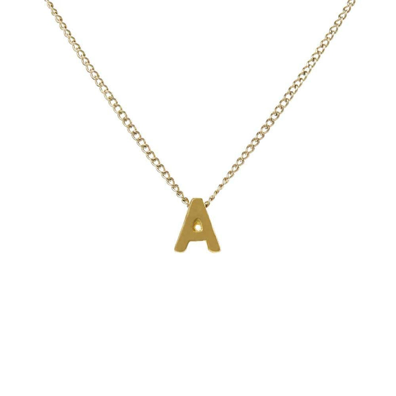 "Personalized Initial Necklace for Moms Letter ""A"""