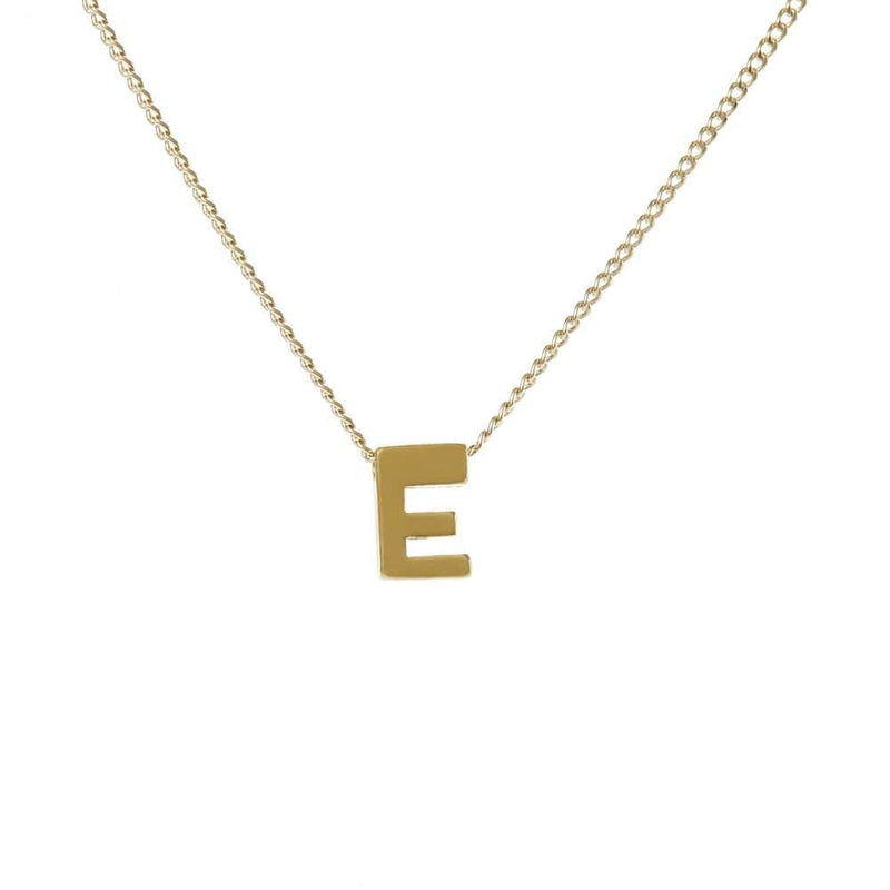 "Personalized Initial Necklace for Moms Letter ""E"""