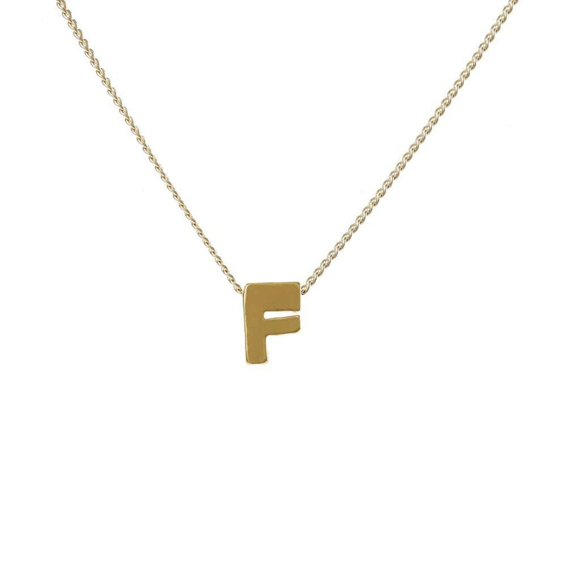 "Personalized Initial Necklace for Moms Letter ""F"""