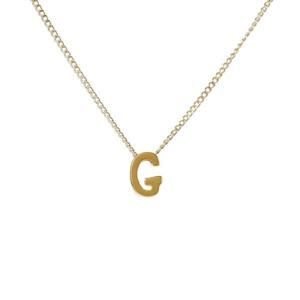 "Personalized Initial Necklace for Moms Letter ""G"""
