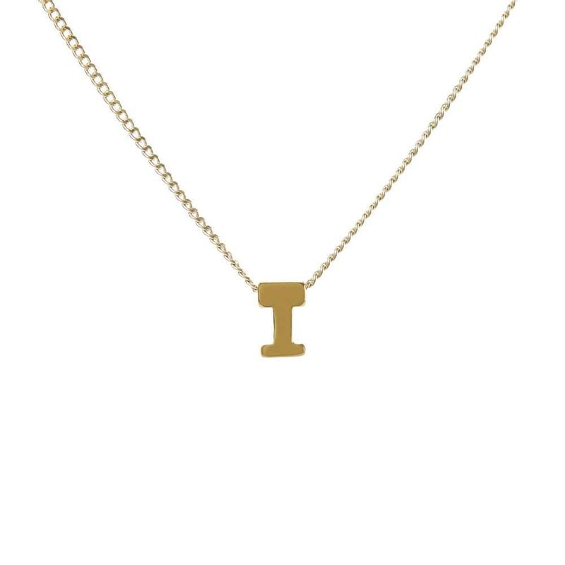 "Personalized Initial Necklace for Moms Letter ""I"""