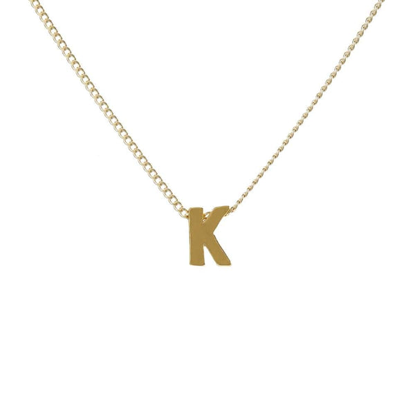 "Personalized Initial Necklace for Moms Letter ""K"""