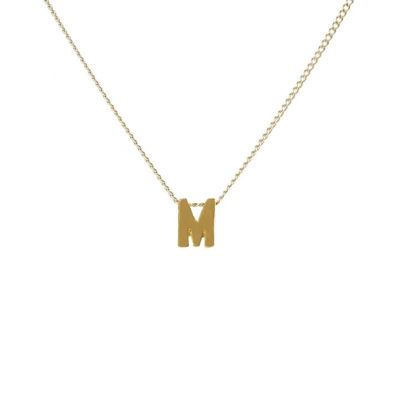 "Personalized Initial Necklace for Moms Letter ""M"""