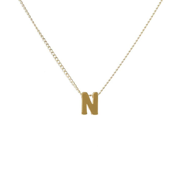 "Personalized Initial Necklace for Moms Letter ""N"""