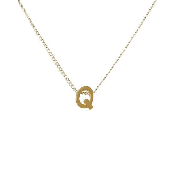 "Personalized Initial Necklace for Moms Letter ""Q"""