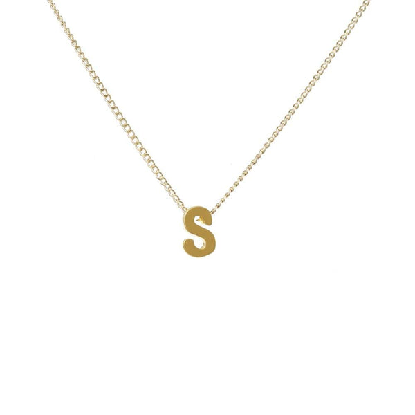 "Personalized Initial Necklace for Moms Letter ""S"""