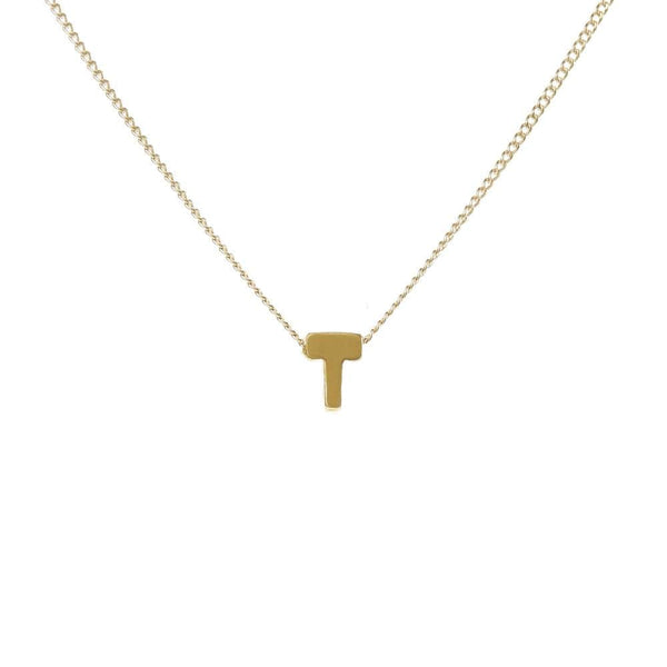 "Personalized Initial Necklace for Moms Letter ""T"""
