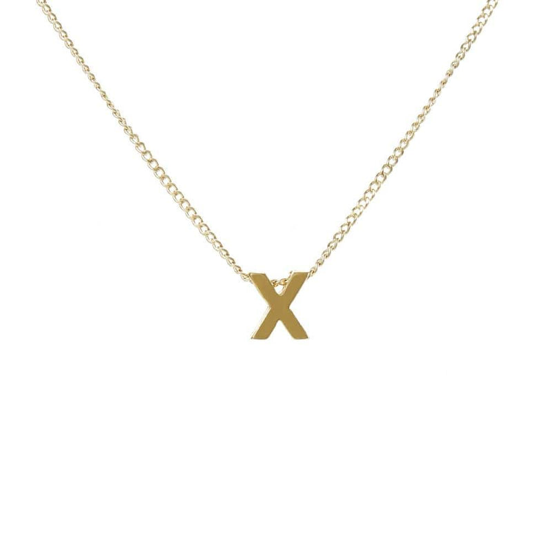 "Personalized Initial Necklace for Moms Letter ""X"""