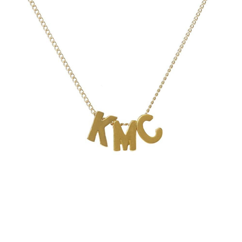 Personalized Initial Necklace for Moms - 3 Letters