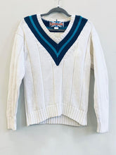 Load image into Gallery viewer, 90s wide ribbed sweater, by Reebok, S/M