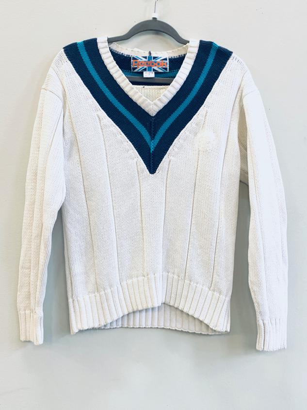 90s wide ribbed sweater, by Reebok, S/M