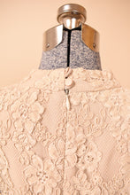 Load image into Gallery viewer, Beige Lace Top, By Ursula of Switzerland, M