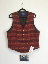 Load image into Gallery viewer, Red Wool Vest, stamped buttons, Pendleton XL