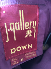 Load image into Gallery viewer, Raspberry 80s Duvet Puffer Coat, By J Gallery, S/M