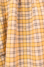 Load image into Gallery viewer, Yellow Plaid 1910-1920 Child's Feed Sack Dress,  XXS