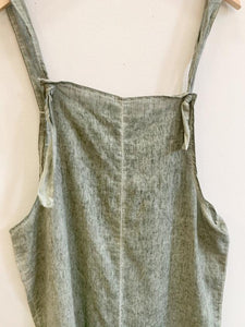 green shapeless soft jumpsuit, S/M