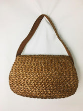 Load image into Gallery viewer, Tan 60s Straw Purse