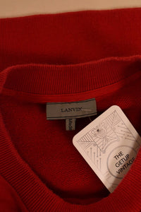 Red Beaded Spider Sweatshirt, By Lanvin, L