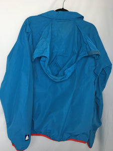 Teal 90s Oversized Teal Windbreaker, High Sierra XL
