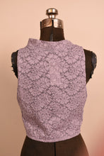 Load image into Gallery viewer, Gray Lace Spandex Cropped Top,  L