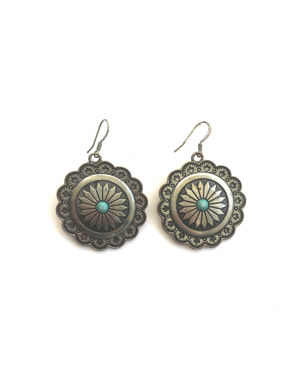 silvertone metal earrings