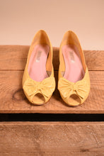 Load image into Gallery viewer, Yellow Peeptoe Wedges, By Westies, 7