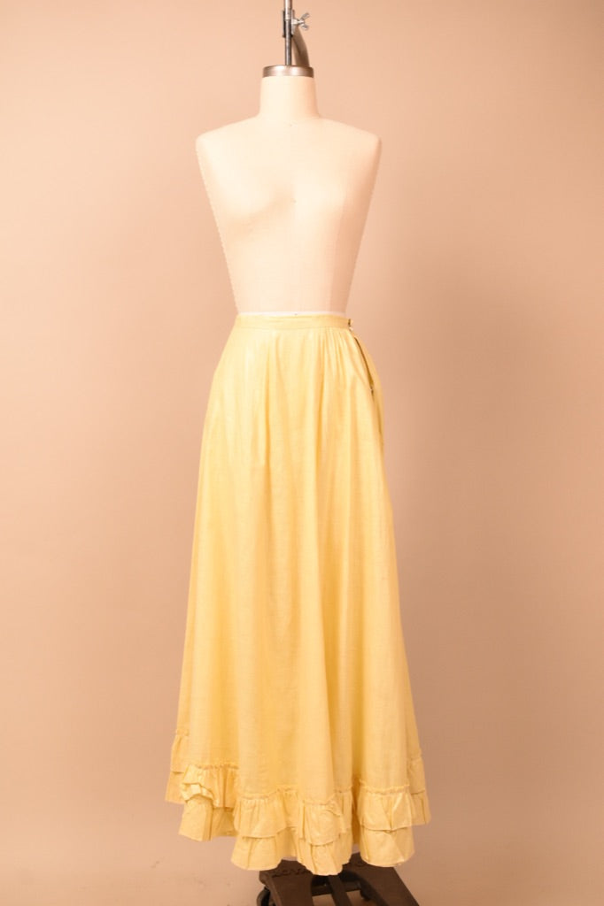 Yellow Victorian Skirt, XS