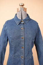 Load image into Gallery viewer, Full-Length Denim Button-Up Dress, By Chadwicks, M