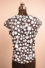Load image into Gallery viewer, Black & White 1960s Circle Print Top, By Lovely Lady by Major, M/L