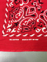 Load image into Gallery viewer, Red 70s/80s Deadstock Fast Color Bandana, Made in USA