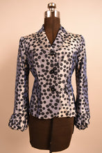 Load image into Gallery viewer, Silver Iridescent Blazer With Black Polka Dots, By Moschino Cheap & Chic, XS/S