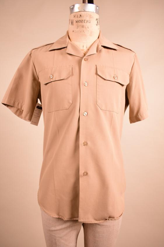 1970s khaki leisure shirt, M/L