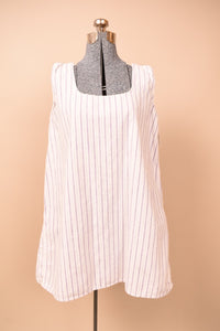 White Victorian Sleeveless Flannel Nightgown Tent Dress,  M/L