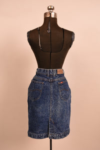 Blue denim acid wash skirt, Lee S