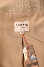 Load image into Gallery viewer, Silver Jacquard Jacket, By Armani Collezioni, M