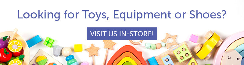 Looking for toys, equipment or shoes? Visit Children's Orchard in-store.