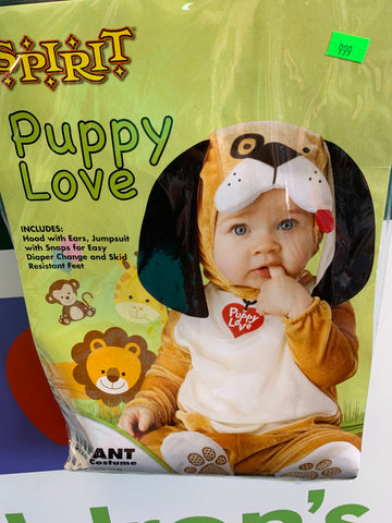 Size 0-6M Puppy costume